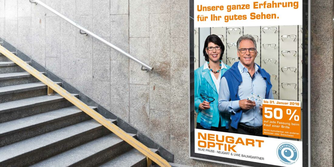 Neugartoptik-Plakat