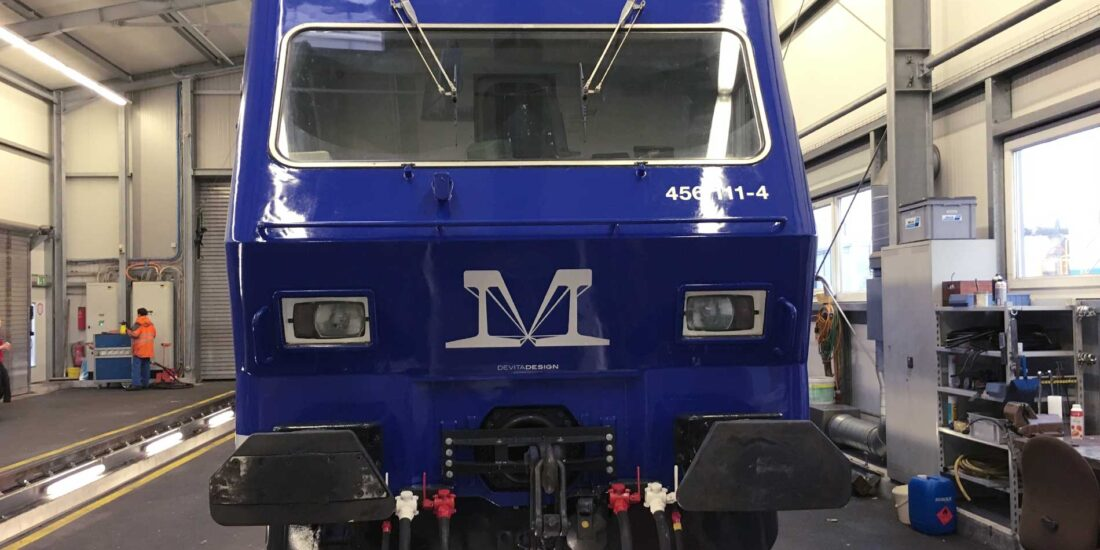 M-Rail-Lok fertig beschriftet Front