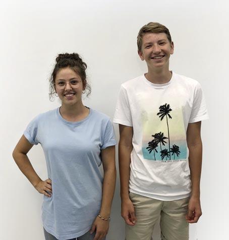Unsere neue Lehrlinge Hannah und Loris